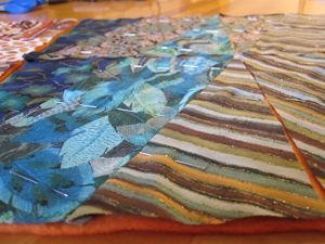 pinned for quilting