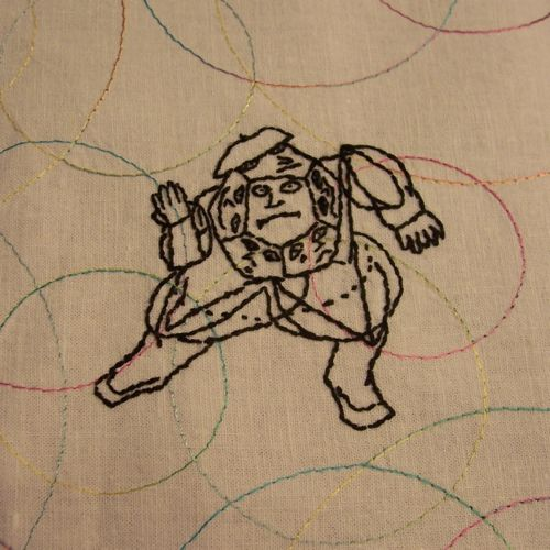 Phantom Tollbooth's dodecahedron in embroidery