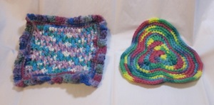potholders, front