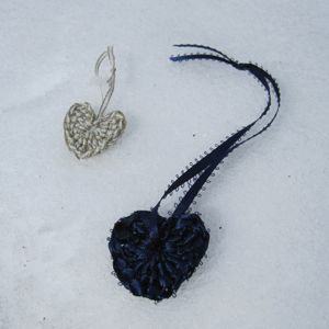 ribbon heart ornaments