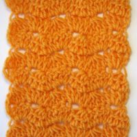 double crochet scarf stitch sample