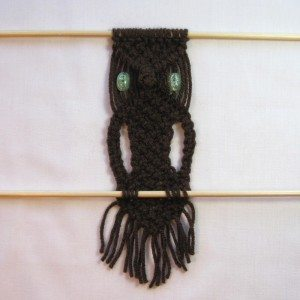 macrame owl finished