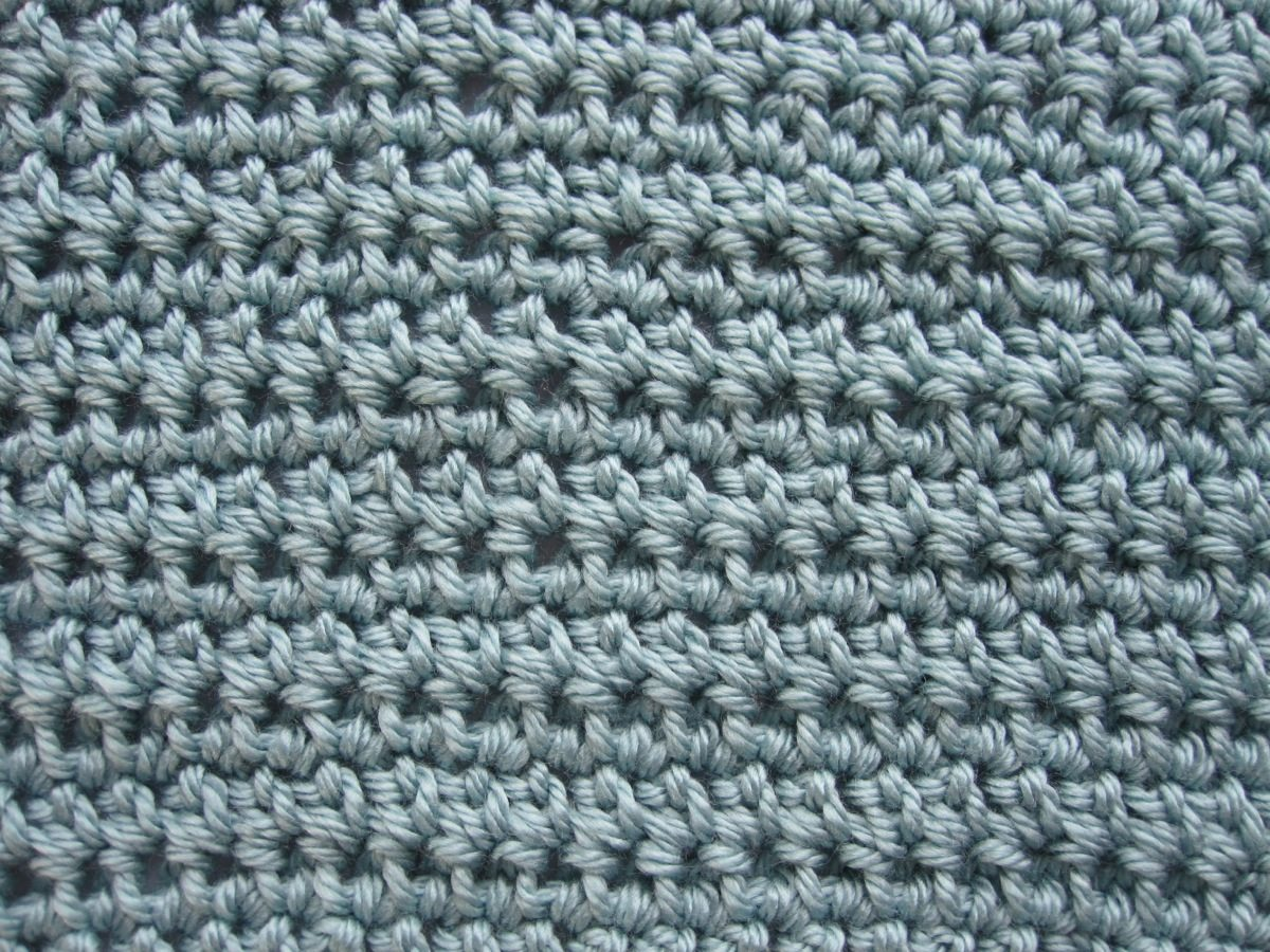 Crochet Stitches Esc : The half double crochet swatch is 6.5? by 8.15? and weighs 0.8 ...