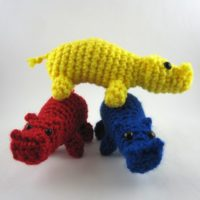 Snouty Hippos in a stack. Get the pattern at revedreams.com/shop/.