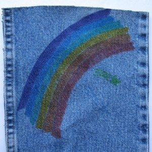 Crayola fabric markers on denim