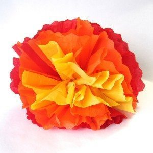 large tissue paper carnation