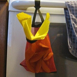 rubber glove holder