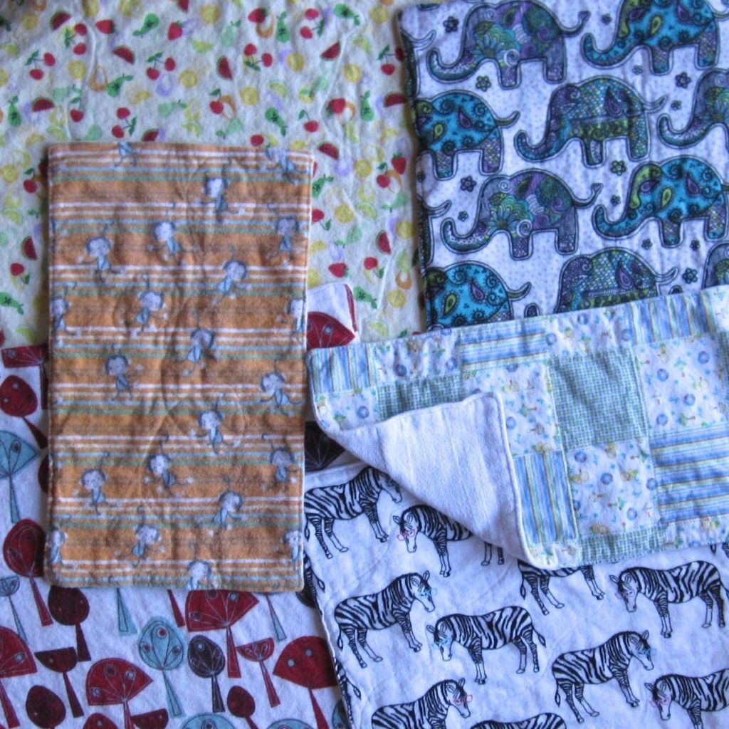 cloth diaper and flannel burp cloths