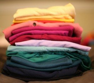 stack of shirts from Pixabay