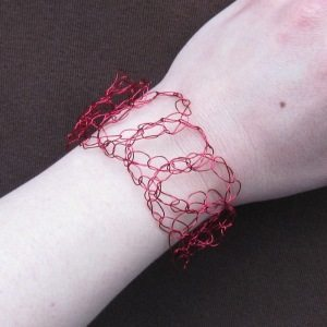 wire crocheted bracelet