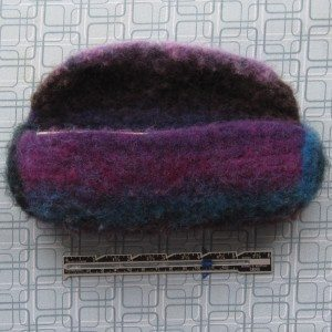 fully felted pencil pouch - front