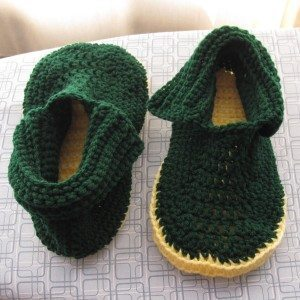 finished slippers, unlaced