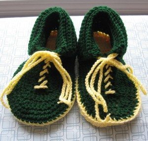 finished slippers with laces
