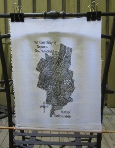 blackwork map drying