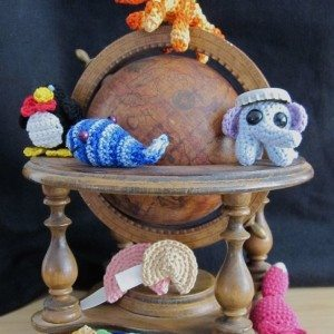 embroidery floss amigurumi animals