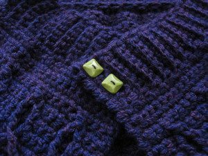 photo of cable wrap buttons close-up