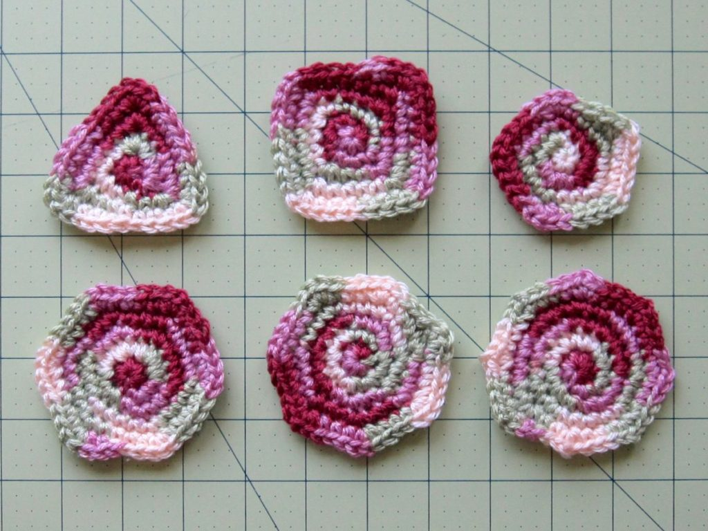 crochet polygons from three sides to eight