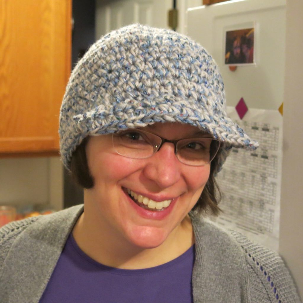 me in my crochet snow hat