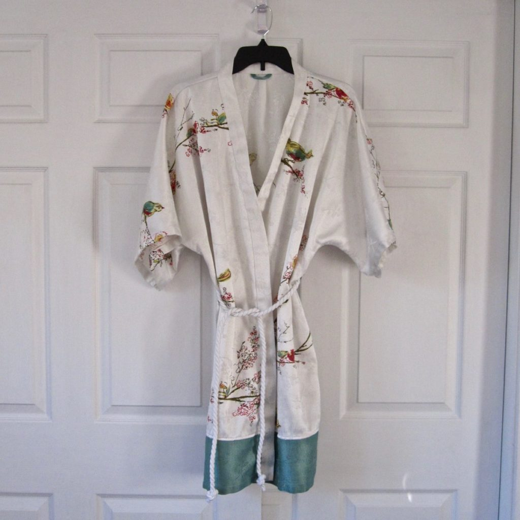 bathrobe, hanging up