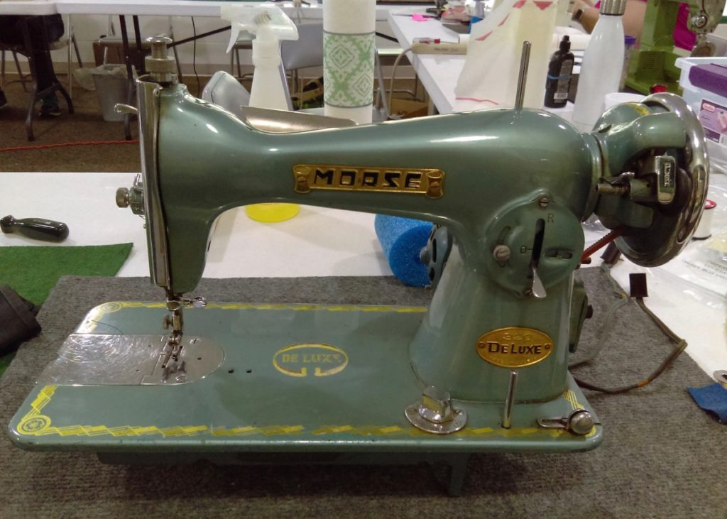 A straight-stitch-only Morse machine