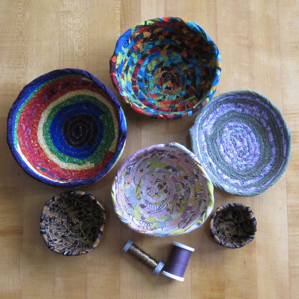 fabric bowls all together