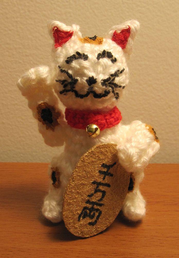 Ravelry: Maneki Neko Fortune Cat pattern by amilovers | Maneki ... | 1000x696