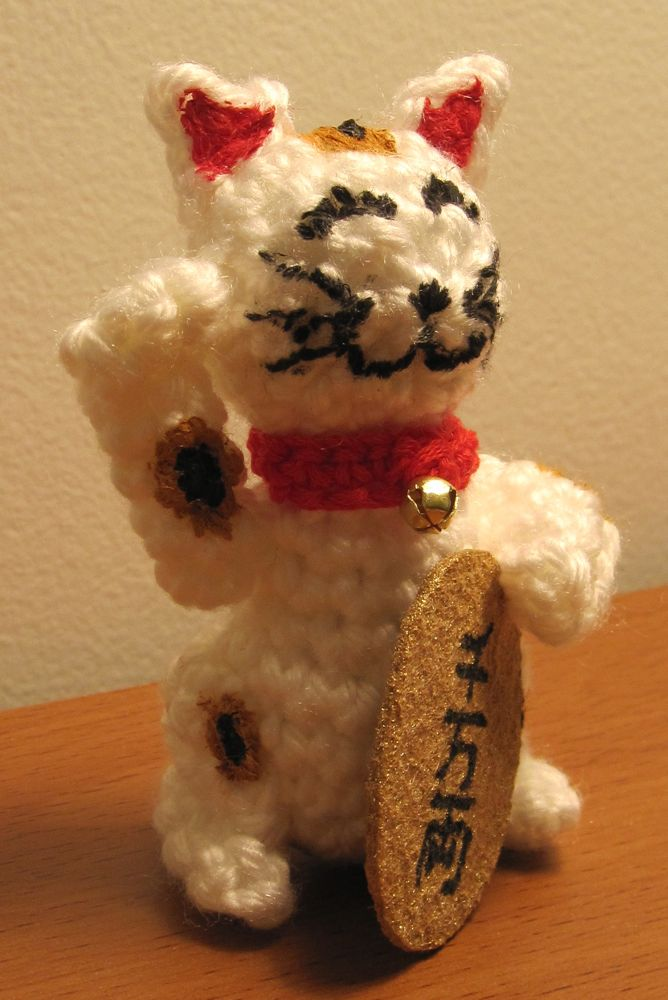 Lucky Cat Free Crochet Pattern | 1000x668